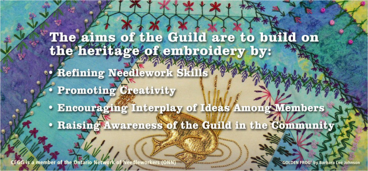 The aims of the CEGG is to build on the heritage of embroidery.