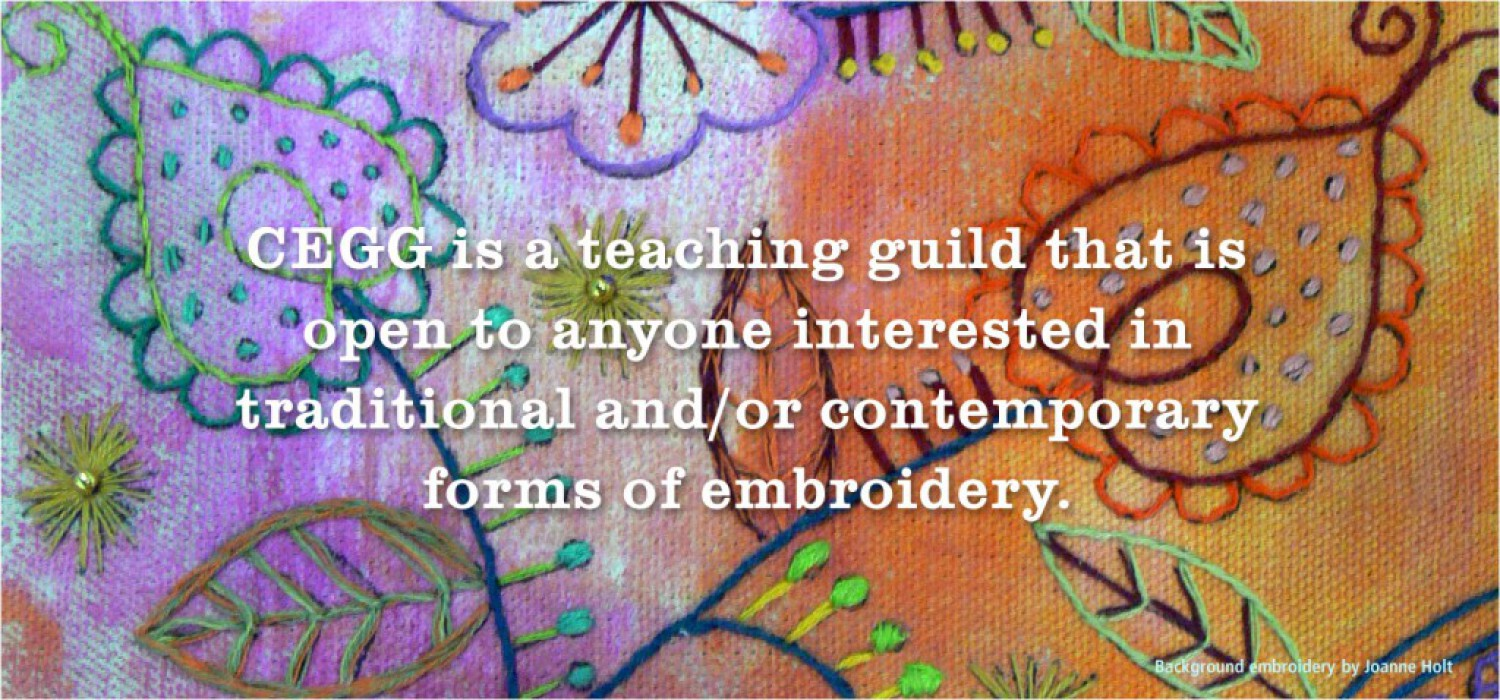 Canadian Emboiderers' Guild Guelph is a Teaching Guild